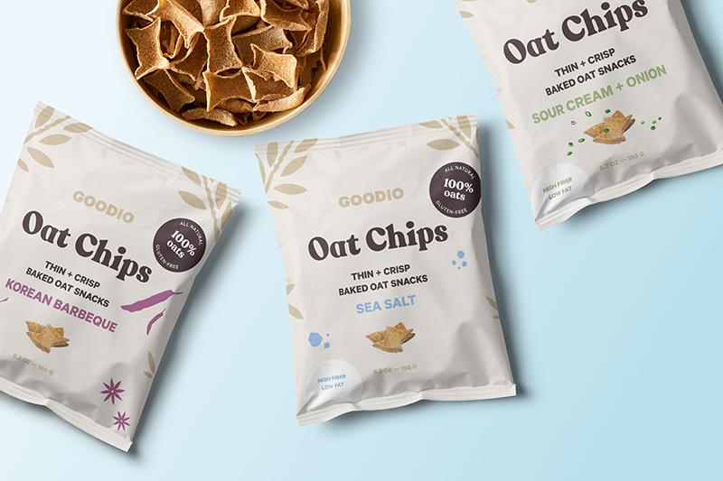 Goodio custom bag design flowpack for chips