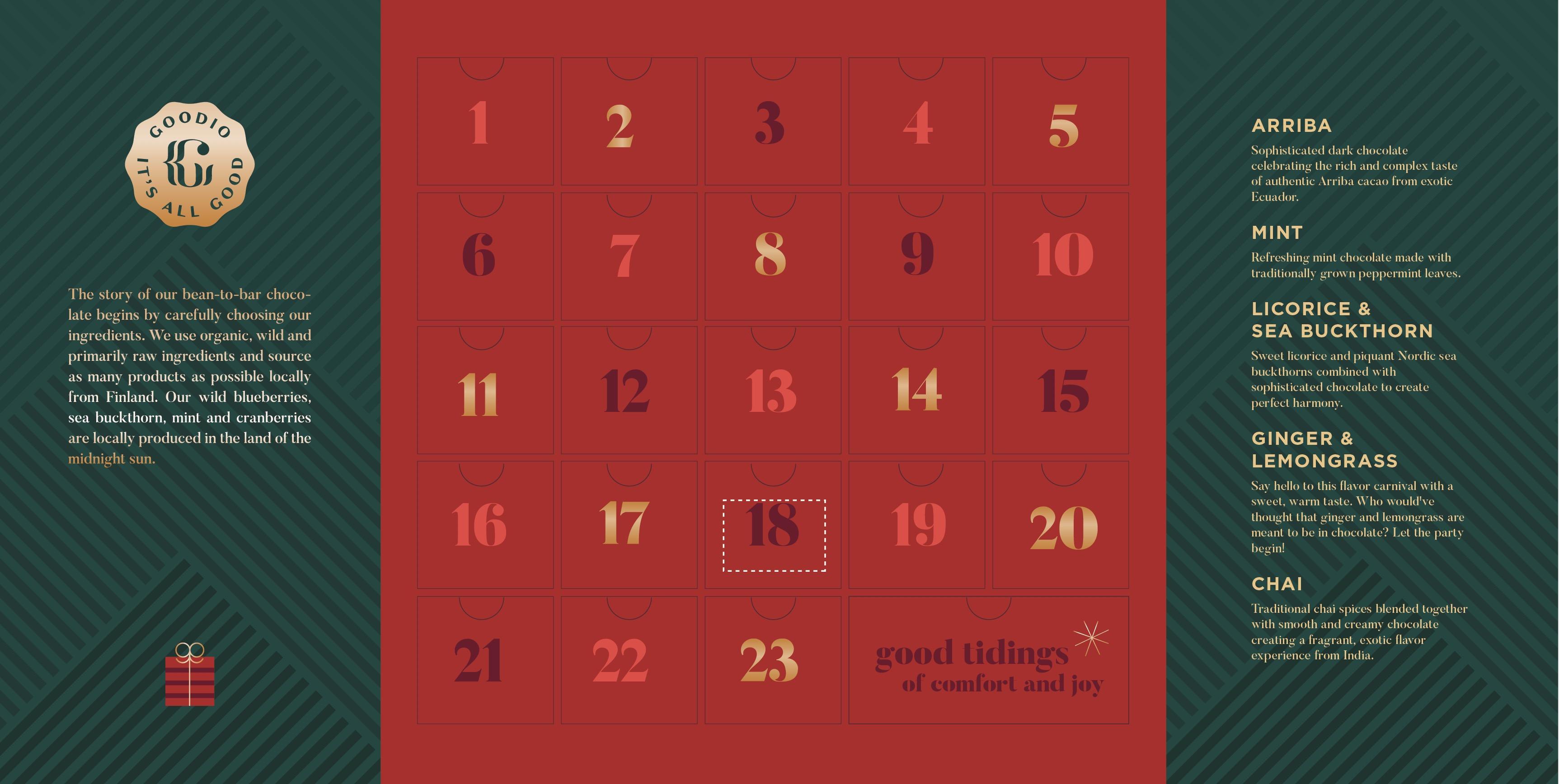 Goodio advent calendar countdown to christmas